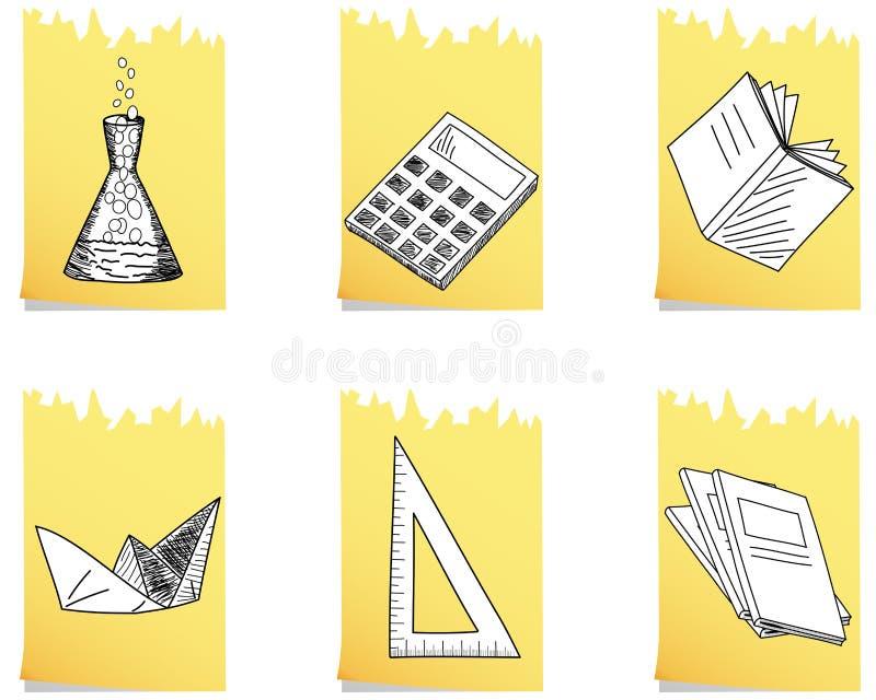 Conjunto del icono de la escuela ilustración del vector