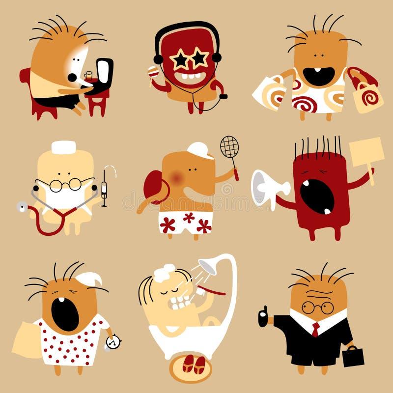 Download Conjunto Del Icono De La Gente Ilustración del Vector - Ilustración de carácter, icono: 42444469