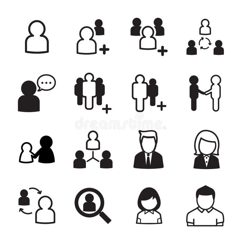 Conjunto del icono de la gente libre illustration