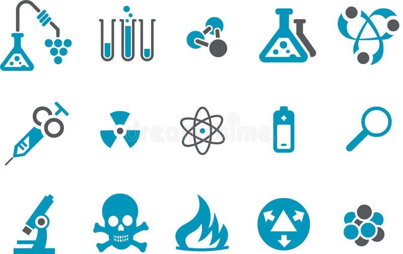 Conjunto del icono de la investigación stock de ilustración