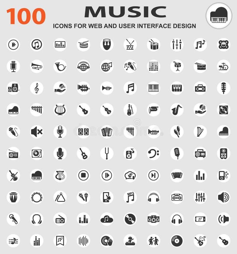 Conjunto del icono de la música stock de ilustración