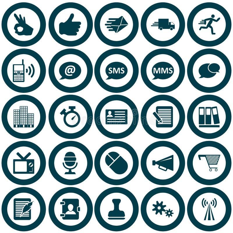 Conjunto del icono de la oficina ilustración del vector