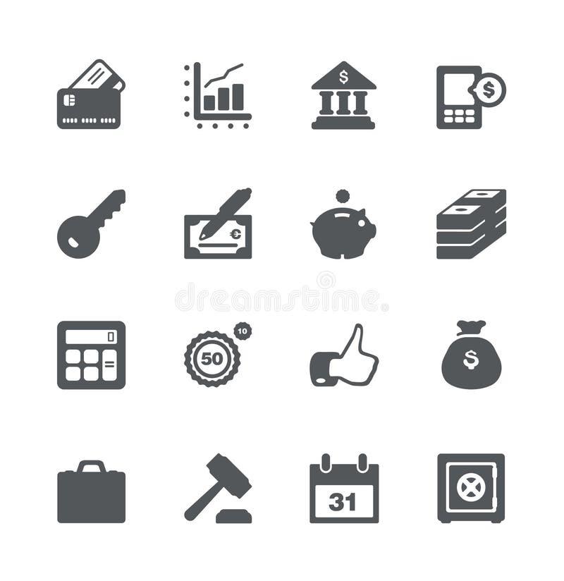 Conjunto del icono de las finanzas y del asunto libre illustration