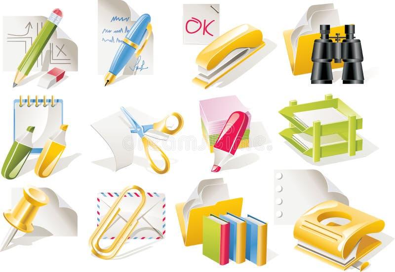 Conjunto del icono de las fuentes de oficina del vector libre illustration