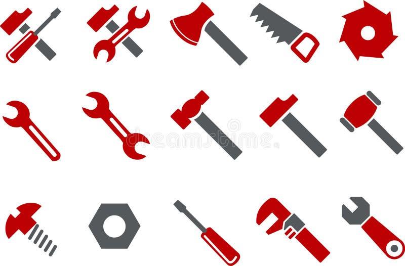 Conjunto del icono de las herramientas ilustración del vector