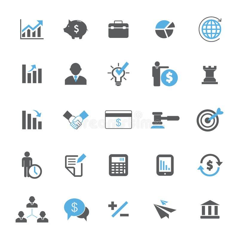 Conjunto del icono del asunto y de las finanzas stock de ilustración