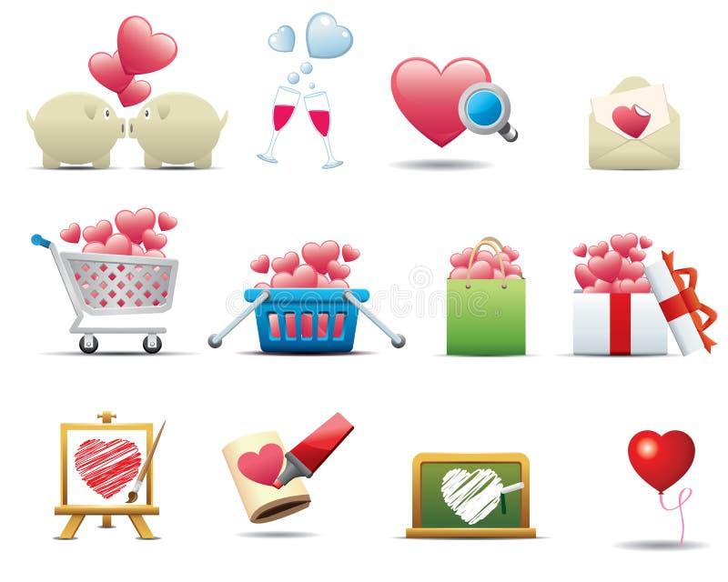 Conjunto del icono del corazón -- Serie superior libre illustration