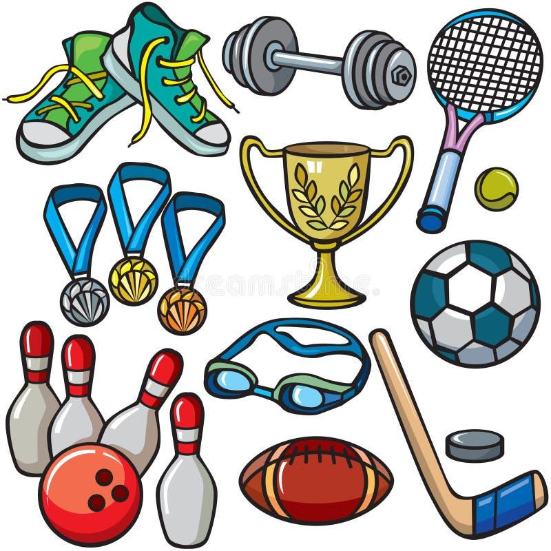 Conjunto del icono del equipo de deportes ilustración del vector