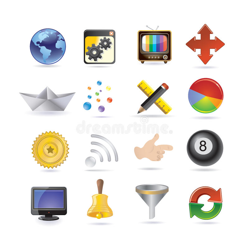 Conjunto del icono del Internet libre illustration