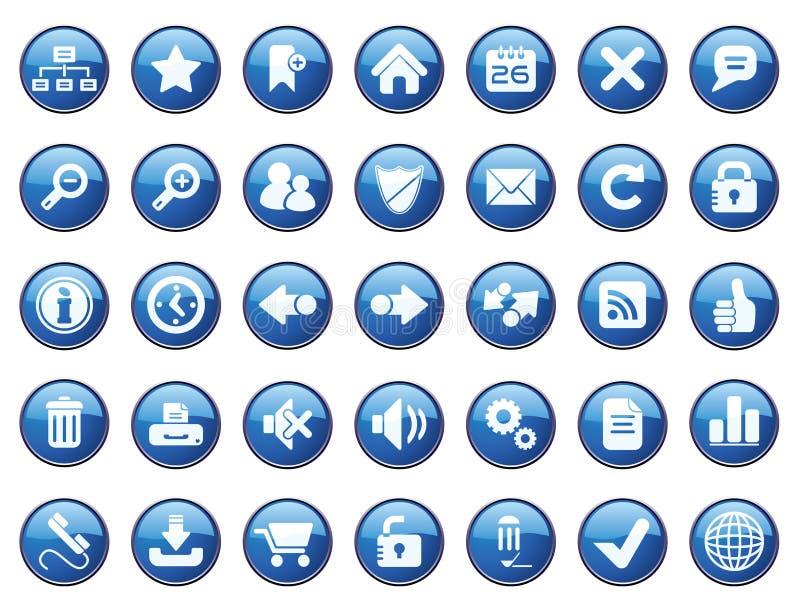 Conjunto del icono del Internet ilustración del vector