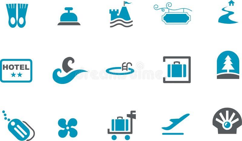 Conjunto del icono del mar ilustración del vector