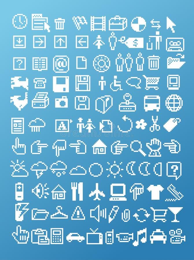 Sistema del icono del pixel libre illustration