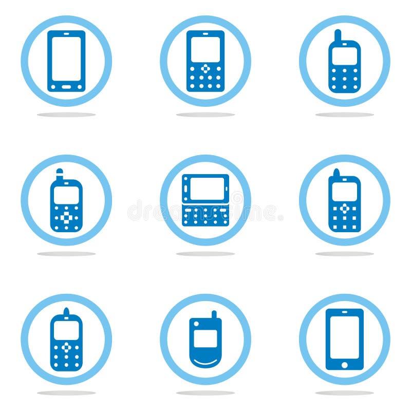 Conjunto del icono del teléfono móvil libre illustration