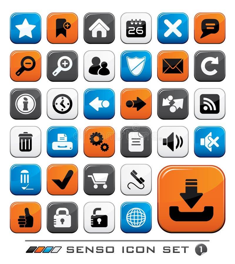 Conjunto del icono del Web ilustración del vector