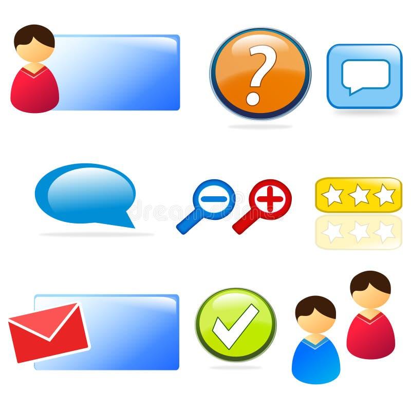 Conjunto Del Icono Del Web Site Y De La Atención Al Cliente Imagen de archivo libre de regalías