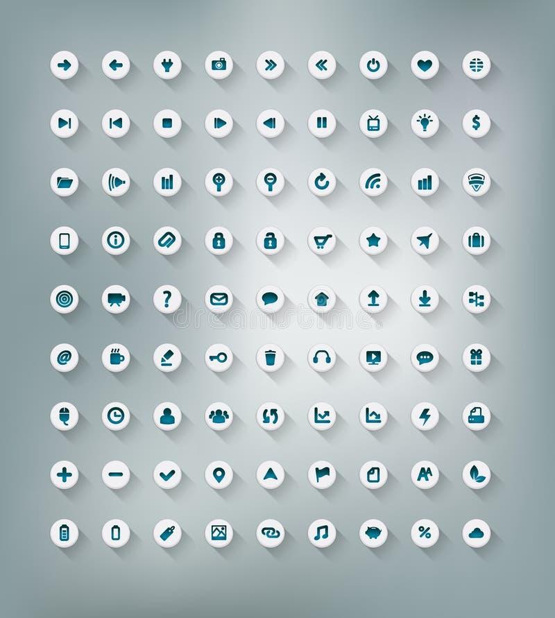 Conjunto del icono del Web y de la oficina ilustración del vector