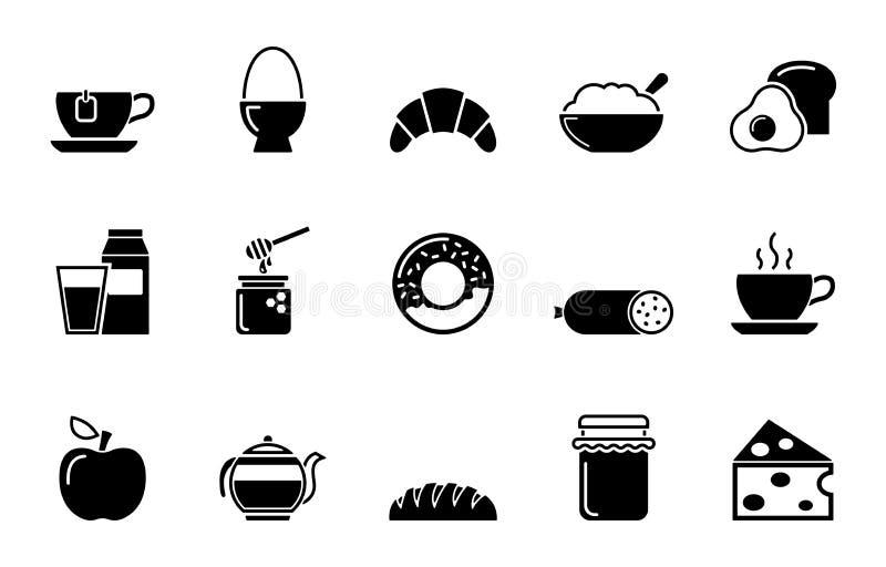 Conjunto del icono del desayuno libre illustration