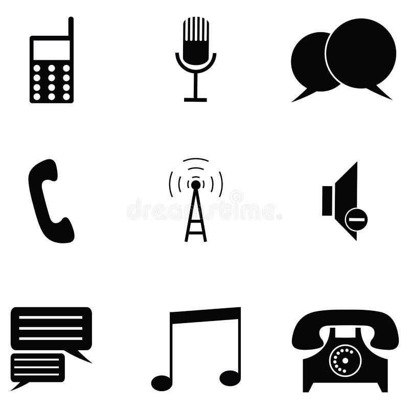 Conjunto del icono del teléfono stock de ilustración