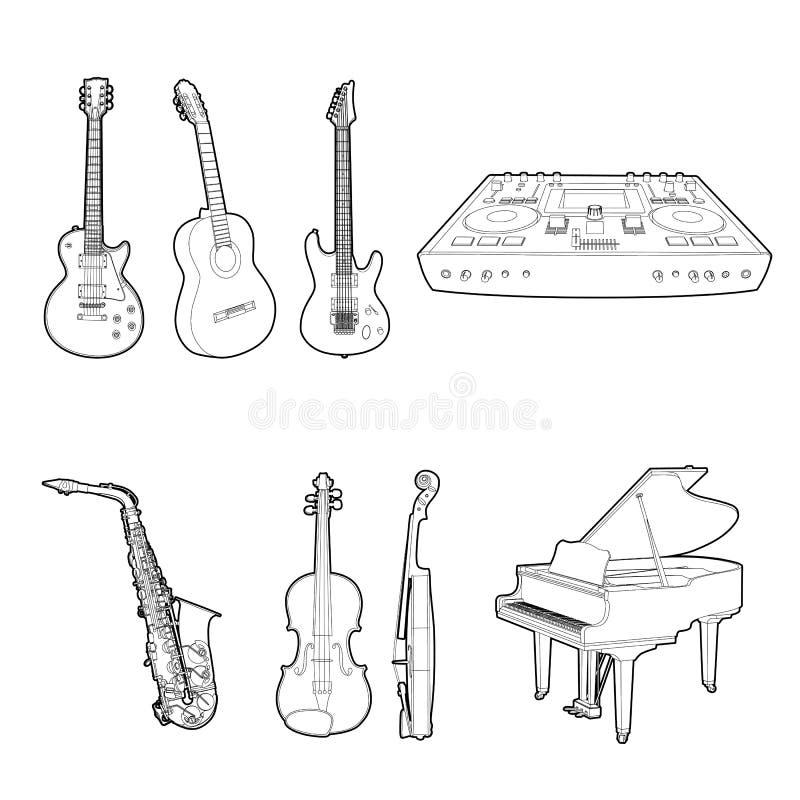 Conjunto Del Instrumento Musical Foto de archivo libre de regalías