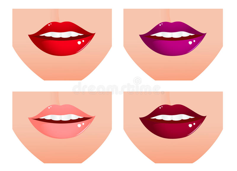 Conjunto del labio de la mujer stock de ilustración
