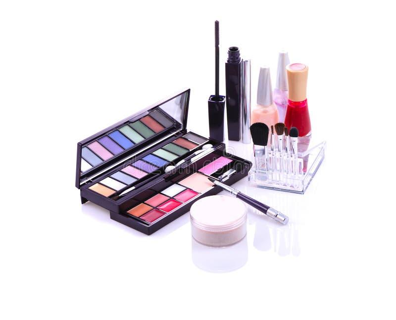 Conjunto del maquillaje imagen de archivo libre de regalías