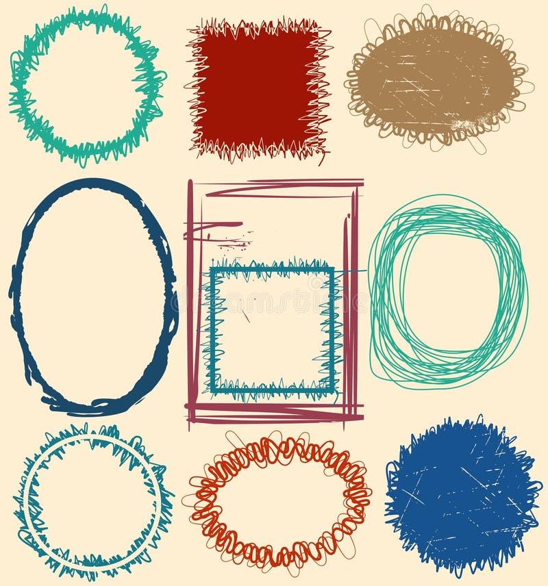 Conjunto del marco de Grunge libre illustration