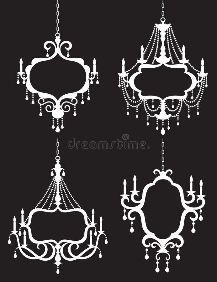 Conjunto del marco de la lámpara ilustración del vector