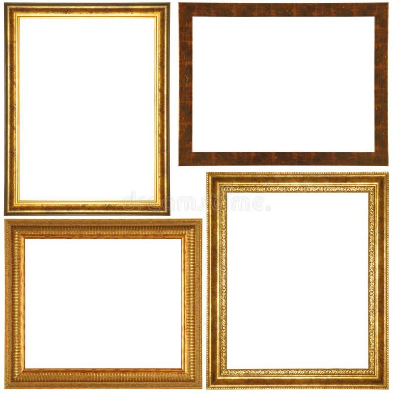 Conjunto del marco de la vendimia imagenes de archivo