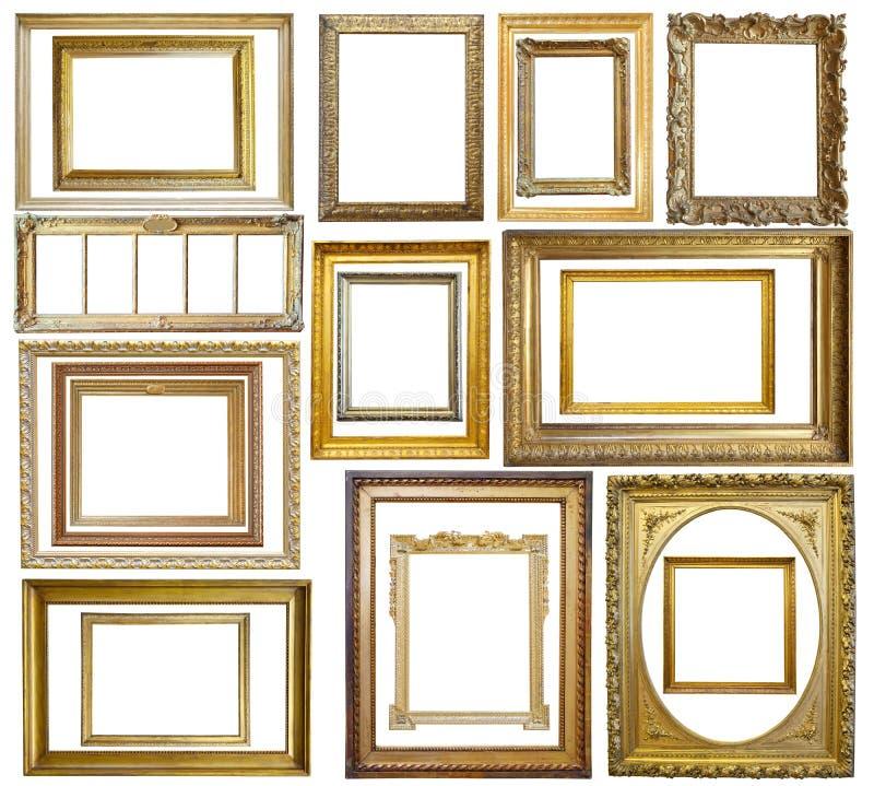 Conjunto del marco del oro de la vendimia foto de archivo libre de regalías