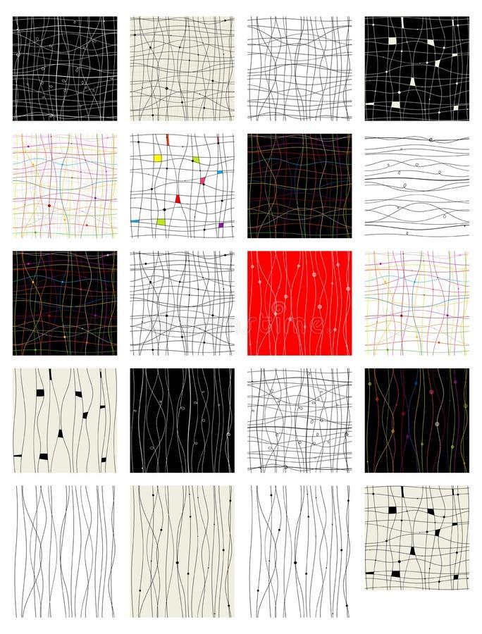 Conjunto del modelo inconsútil abstracto para su diseño libre illustration