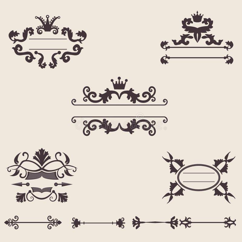 Conjunto del ornamento de la vendimia libre illustration
