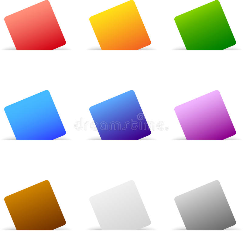 Conjunto del papel coloreado ilustración del vector