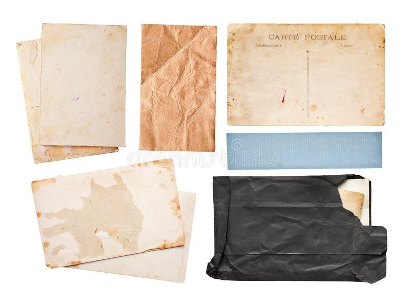 Conjunto del papel de la vendimia imágenes de archivo libres de regalías