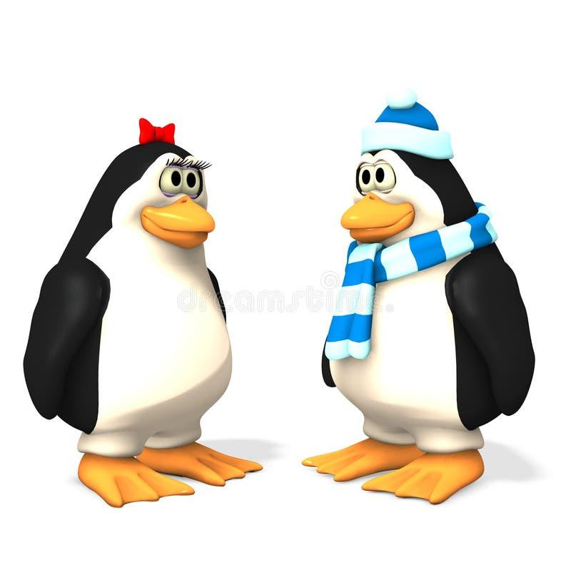Conjunto del pingüino del día de fiesta ilustración del vector