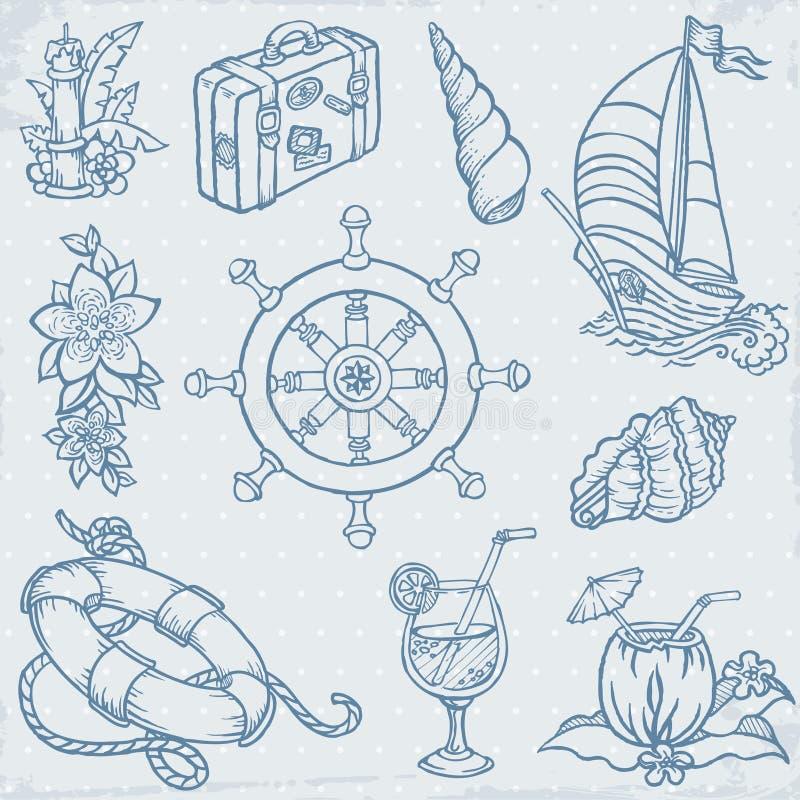 Conjunto del recorrido del Doodle libre illustration