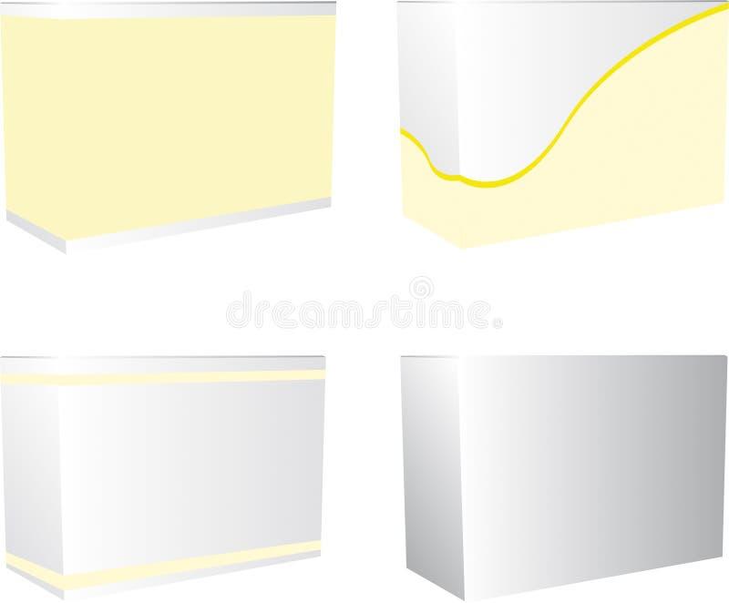 Conjunto del rectángulo ilustración del vector