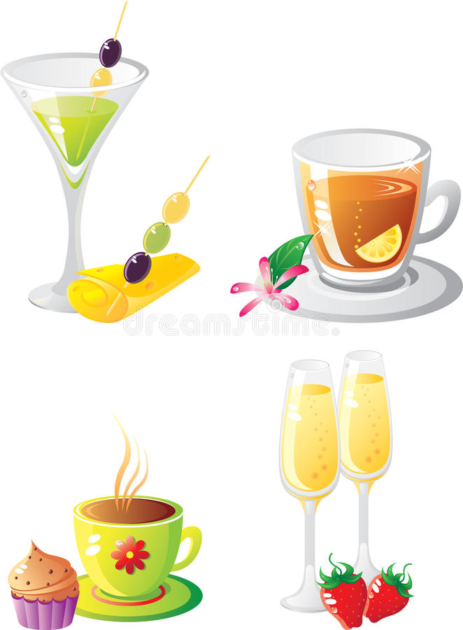 Conjunto del `s de la bebida de la celebración foto de archivo libre de regalías