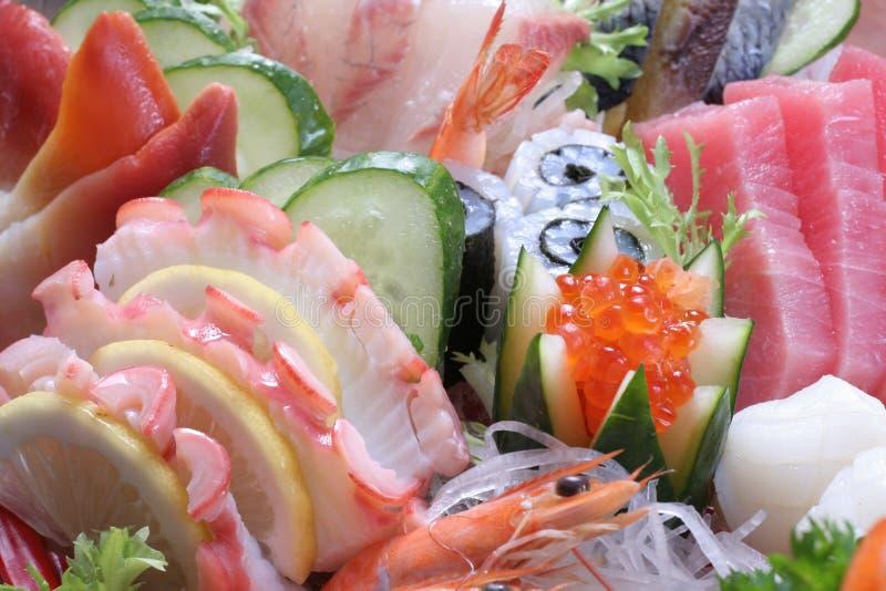 Conjunto del Sashimi fotos de archivo
