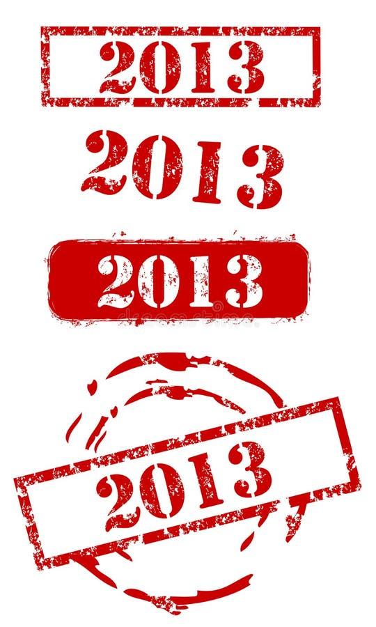 Conjunto del sello del Año Nuevo 2013 ilustración del vector