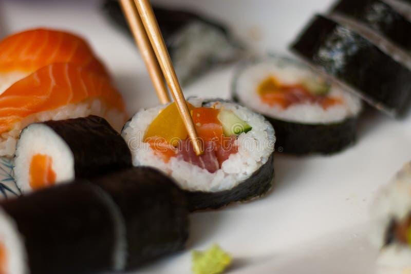 Conjunto del sushi imagen de archivo