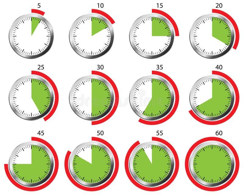 Conjunto del temporizador stock de ilustración