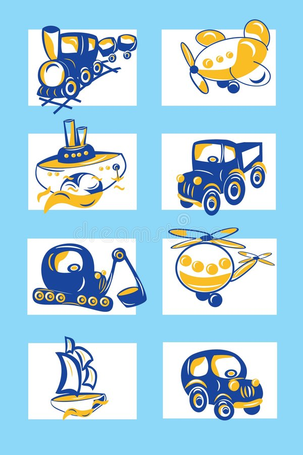 Conjunto del transporte libre illustration
