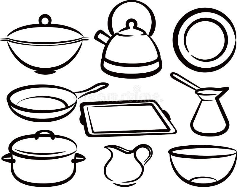 Conjunto Del Utensilio De La Cocina Ilustracion Del Vector