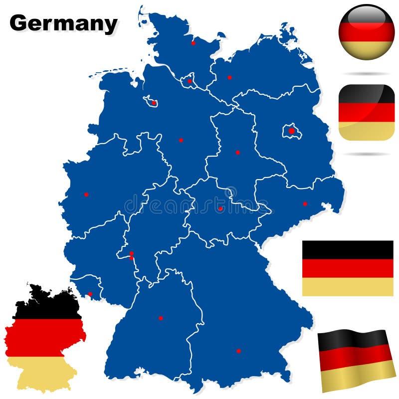 Conjunto del vector de Alemania.