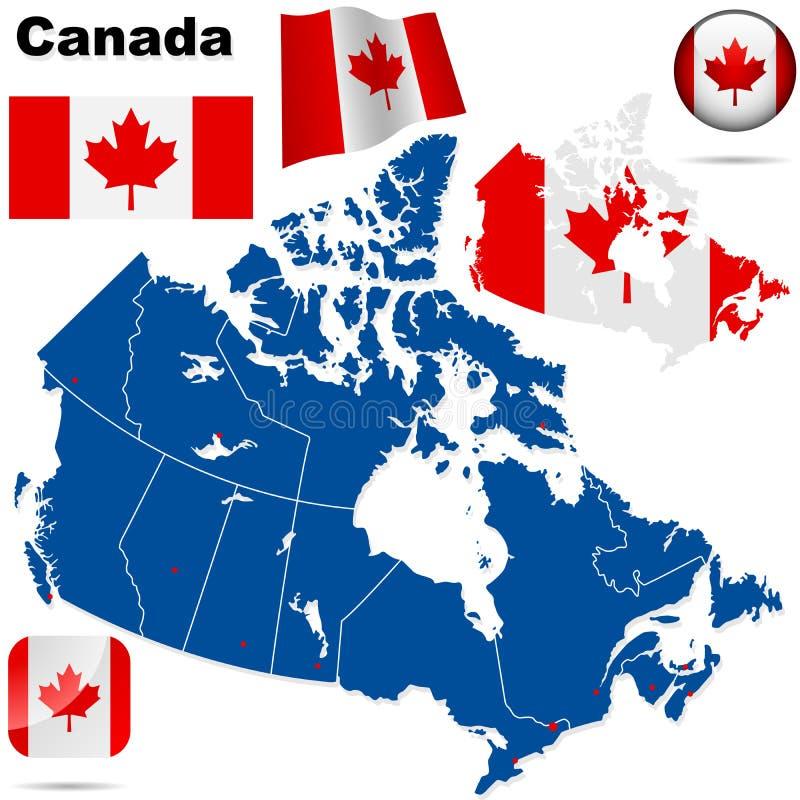 Conjunto del vector de Canadá. ilustración del vector
