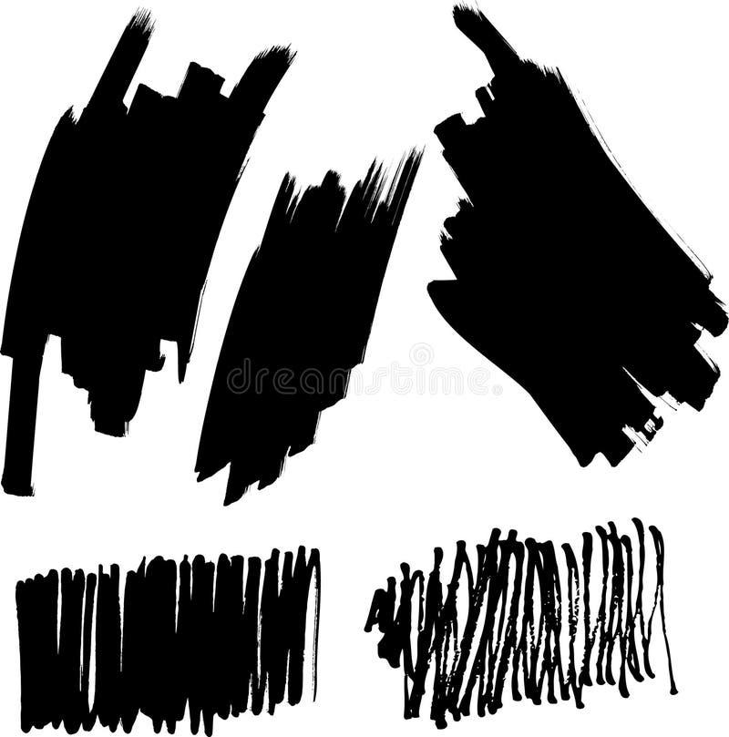 Conjunto del vector de cepillos libre illustration