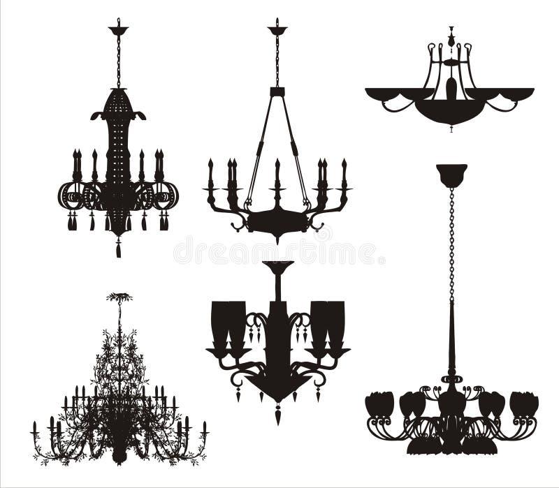 Conjunto del vector de la iluminación ilustración del vector