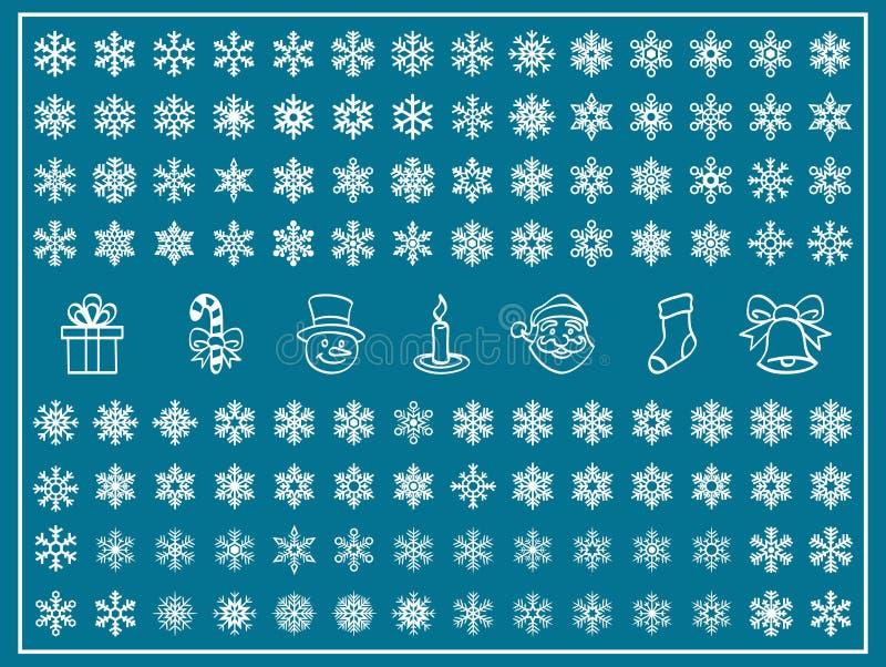 Conjunto del vector de la Navidad stock de ilustración