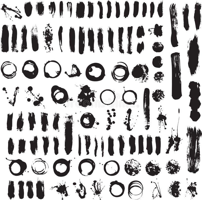 Conjunto del vector de la salpicadura de Brushs libre illustration