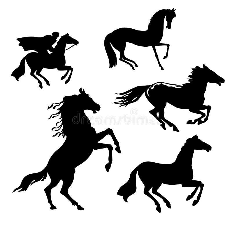 Conjunto del vector de los caballos libre illustration